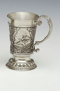 Irish Pewter Duck Tankard