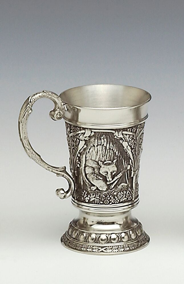 Irish Pewter Fox Tankard