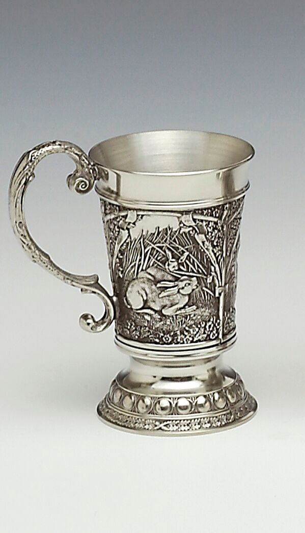 Irish Pewter Hare Tankard