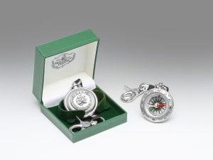 Compass with Irish Shamrock Design