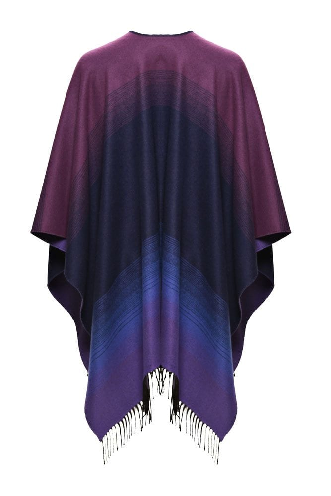 Celtic Design Purple Shawl With Tassles Back