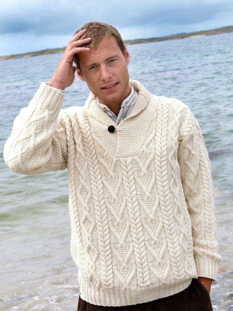 a8e0e78582bf Mens Shawl Neck Sweater