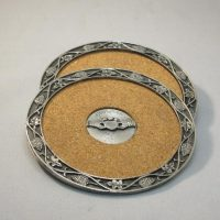 Wine Coasters with Pewter Claddagh Design