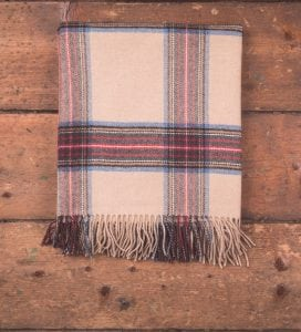 Camel Tartan Throw