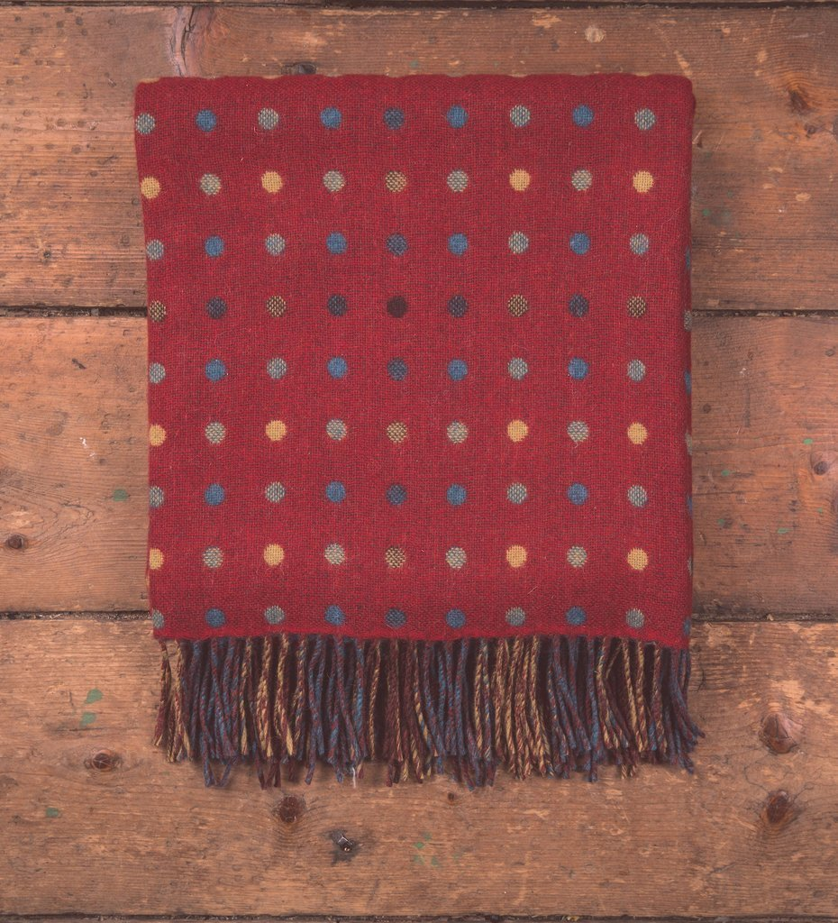 Red Spotted Throw