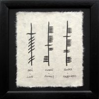 Love Family Happiness Small Triple Ogham