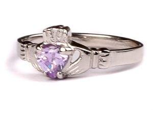 Claddagh Alexandrite Birthstone Ring June