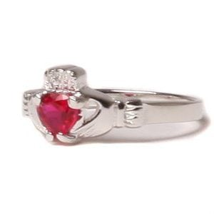 Claddagh Ruby Birthstone Ring July