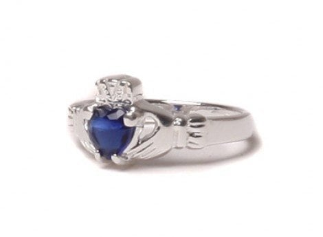 Claddagh Sapphire Birthstone Ring September