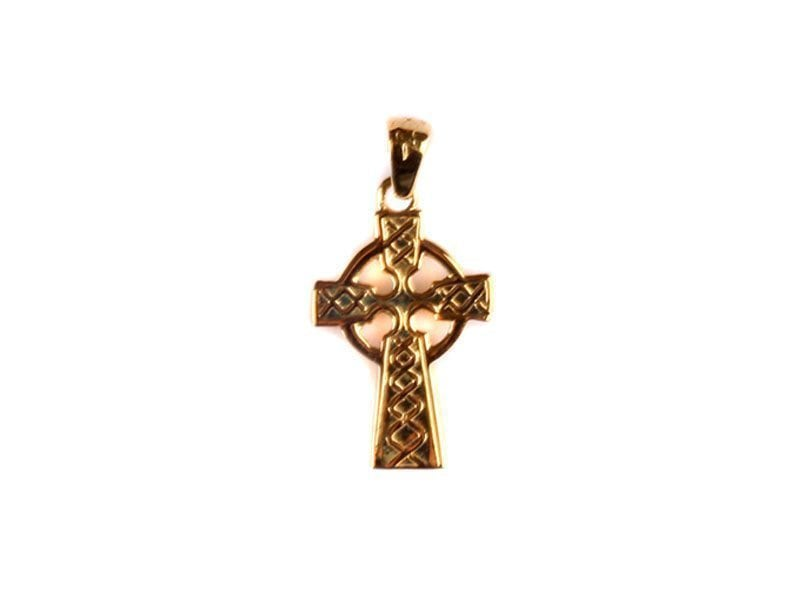 Irish Gold Celtic Cross Pendant