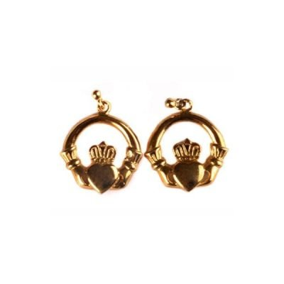 Irish Gold Claddagh Earrings