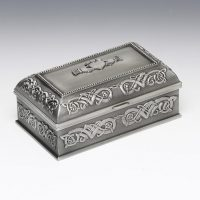 Irish Pewter Claddagh Jewelry Box
