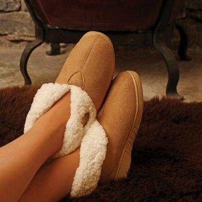 Aran Faux Suede Slipper Booties R689_503