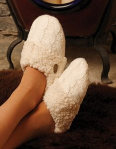 Aran Knitted Slippers R688_502