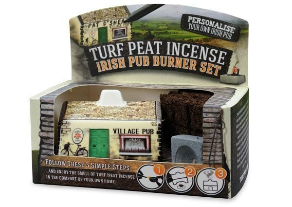 Irish Pub Incense Burner Turf Peat