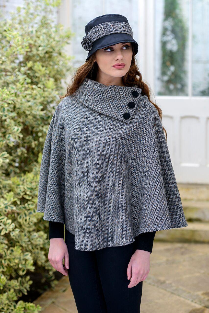 Ladies Irish Grey Poncho
