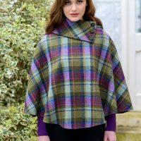 Ladies Irish Green & Purple Poncho