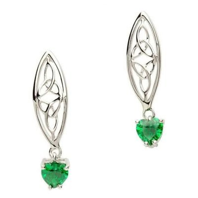 Irish Trinity Silver Earrings