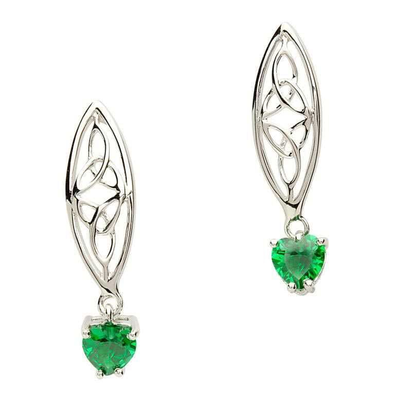 Irish Trinity Silver Earrings