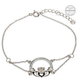 Claddagh Bracelet With Swarovski Crystals