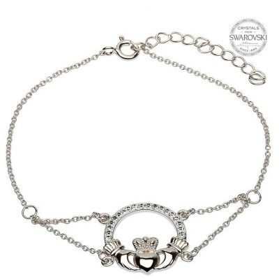 Claddagh Bracelet With Swarovski Crystals