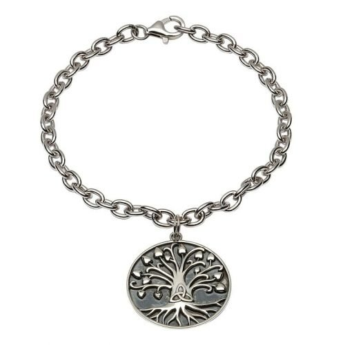 Silver Tree Of Life Trinity Bracelet