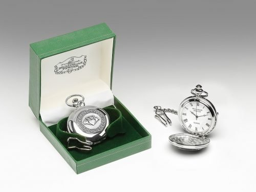 Claddagh Pewter Pocket Watch