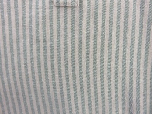 Grandfather Shirt Green Striped
