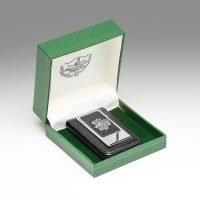 Leather Pewter Money Clip
