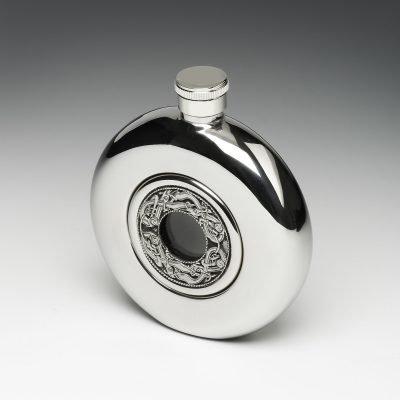 Pewter Whiskey Flask