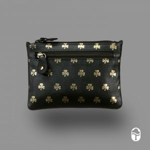Leather Shamrock Purse