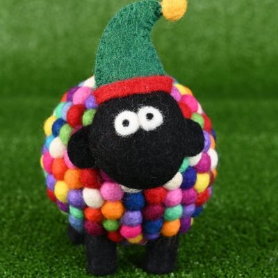 Multi-coloured Christmas Sheep